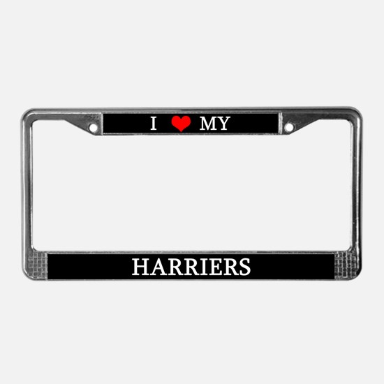 Love Harriers License Plate Frame