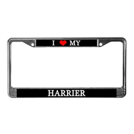 Love Harrier License Plate Frame