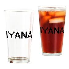 Iyana Digital Name Drinking Glass