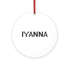 Iyanna Digital Name Ornament (Round)