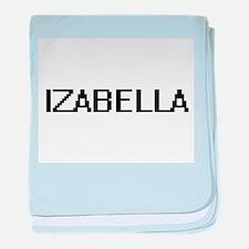 Izabella Digital Name baby blanket