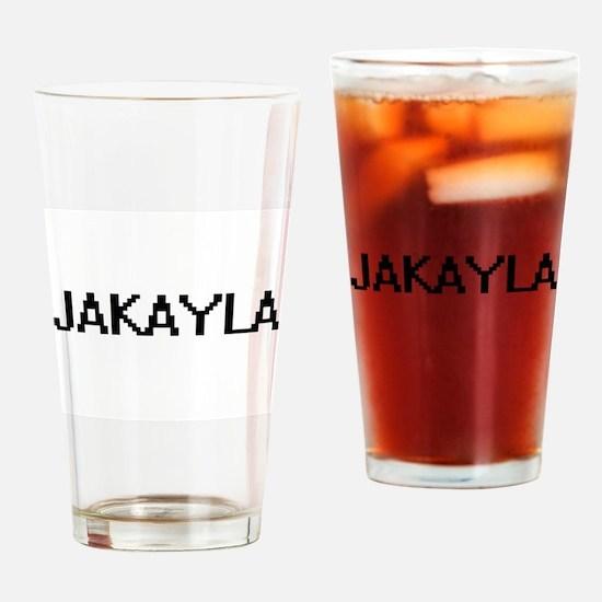 Jakayla Digital Name Drinking Glass