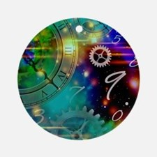 Steampunk Time Universe Round Ornament