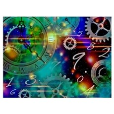 Steampunk Time Universe Canvas Art
