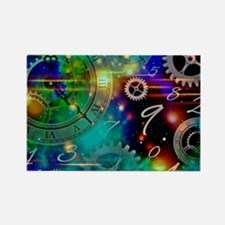 Steampunk Time Universe Rectangle Magnet
