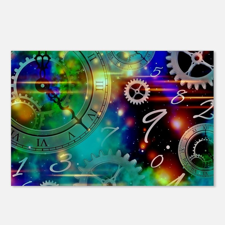 Steampunk Time Universe Postcards (Package of 8)