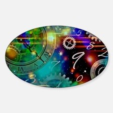 Steampunk Time Universe Sticker (Oval)