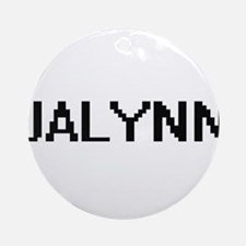 Jalynn Digital Name Ornament (Round)