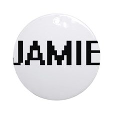 Jamie Digital Name Ornament (Round)