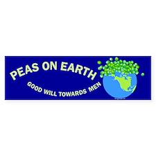 Peas on Earth Bumper Bumper Sticker