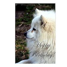 Happy Birthday Samoyed Postcards (Package of 8)