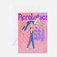 Acrobatics Greeting Cards