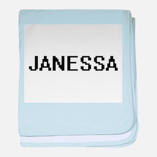 Janessa Digital Name baby blanket
