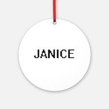 Janice Digital Name Ornament (Round)