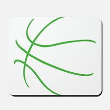 Basketball Ball Lines Lime Green Mousepad