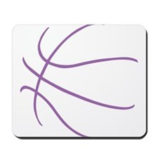 Basketball Ball Lines Purple Mousepad