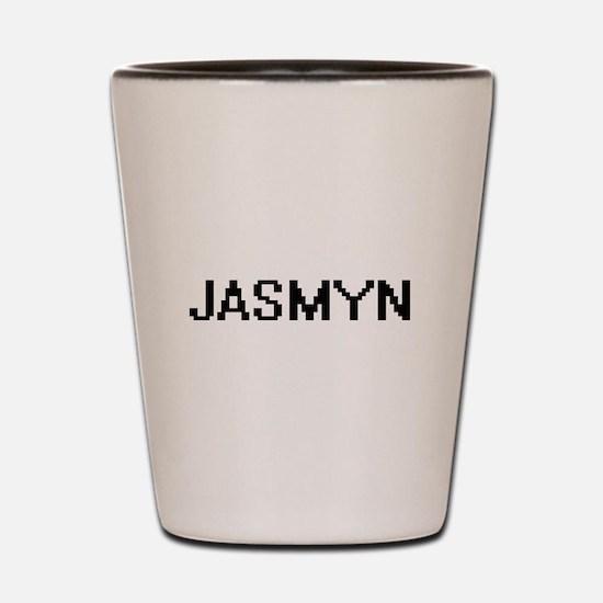 Jasmyn Digital Name Shot Glass