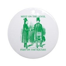 Meeting On the Level - Green Ornament (Round)
