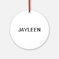 Jayleen Digital Name Ornament (Round)
