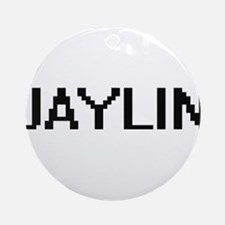 Jaylin Digital Name Ornament (Round)
