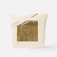 Bryson Beach Love Tote Bag