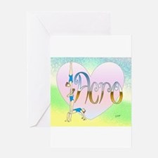 Acro heart Greeting Cards