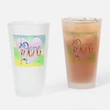 Acro heart Drinking Glass