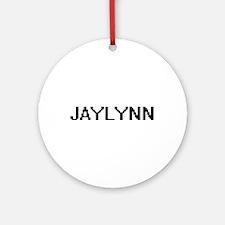 Jaylynn Digital Name Ornament (Round)