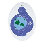 The Freemason embracing the earth Oval Ornament