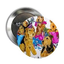 """Airedale Party Animals 2.25"""" Button"""