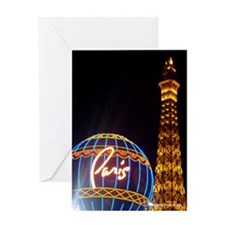 Paris Hotel in Las Vegas Greeting Card