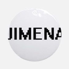 Jimena Digital Name Ornament (Round)