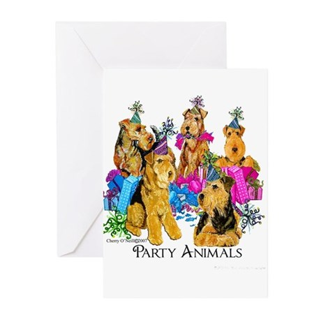 Airedale Terrier Party Greeting Cards (Pk of 10)