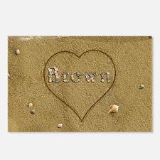 Brown Beach Love Postcards (Package of 8)