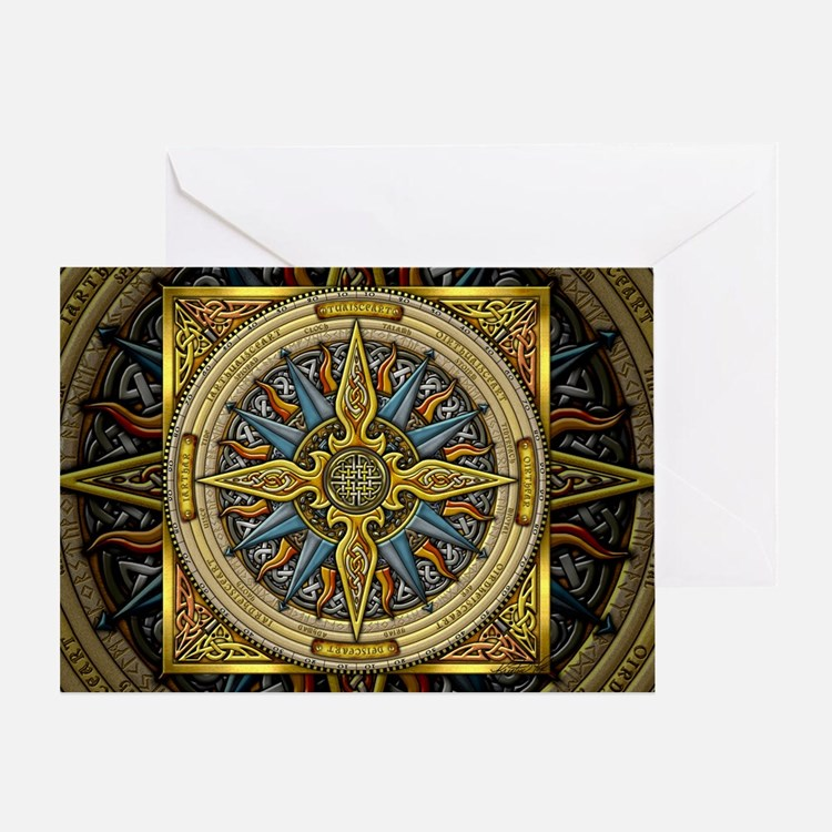 Celtic Compass Greeting Card