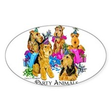 Airedale Party Animals Decal