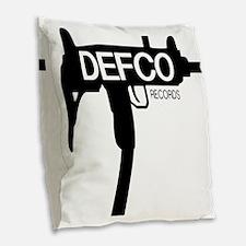 Defco Records Machine Gun Burlap Throw Pillow