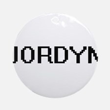 Jordyn Digital Name Ornament (Round)