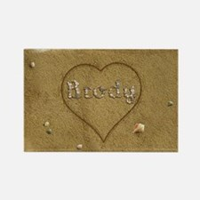 Brody Beach Love Rectangle Magnet