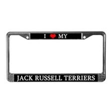 Love Jack Russell Terriers License Plate Frame