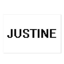 Justine Digital Name Postcards (Package of 8)
