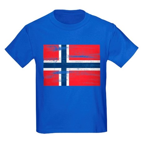 Norway norwegian flag distressed kids dark t shirt norway for Dark denim toddler shirt