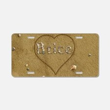 Brice Beach Love Aluminum License Plate