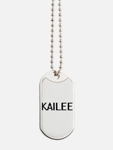 Kailee Digital Name Dog Tags