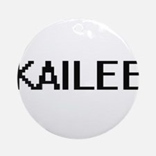 Kailee Digital Name Ornament (Round)