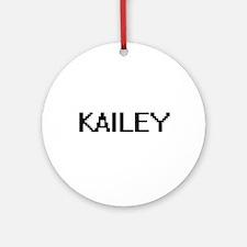 Kailey Digital Name Ornament (Round)