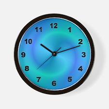 Blue Swirl Clock Wall Clock