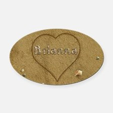 Brianna Beach Love Oval Car Magnet