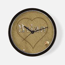 Brian Beach Love Wall Clock