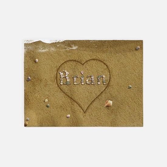 Brian Beach Love 5'x7'Area Rug